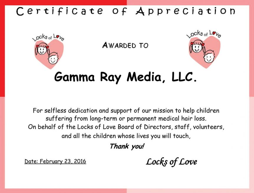 Gamma Ray Media Charitable work