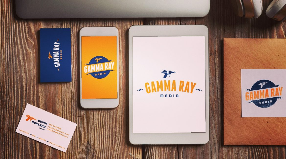 gamma-ray-media-brand-identity-logo-design